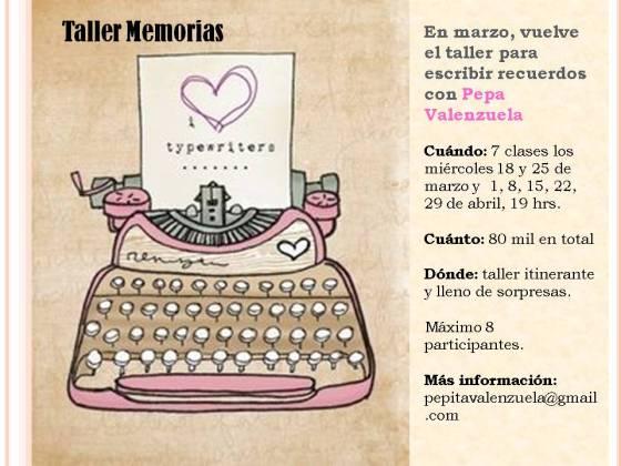 TALLER MEMORIAS MARZO